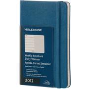 "2017, Moleskine, Pocket 3.5"" x 5.5"", 12M Weekly Notebook, Jan - Dec 2017, Steel Blue, Hard Cover (8051272894073)"