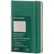 "2017, Moleskine, Pocket 3.5"" x 5.5"", 12M Weekly Notebook, Jan - Dec 2017, Malachite Green, Hard Cover (8051272894103)"