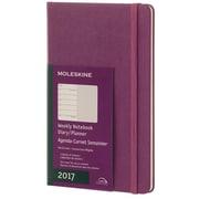 "2017, Moleskine, Large 5"" x 8.25"", 12M Weekly Notebook, Jan - Dec 2017, Grape Violet, Hard Cover (8051272894134)"