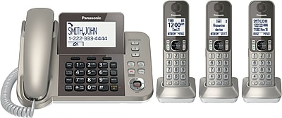 Panasonic Dect 6.0 Corded/cordless Phone System With Caller Id & Tad (3 Handsets)