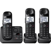 Panasonic KX-TGL433B Expandable Cordless Phone with Comfort Shoulder Grip and Answering System with 3 Handsets, Black