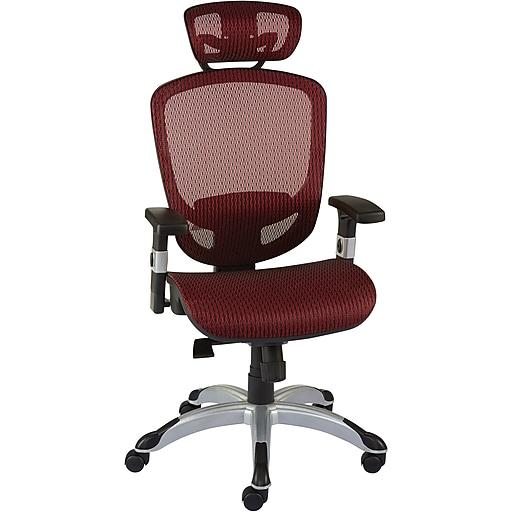 Staples Hyken Technical Mesh Task Chair Red Staples