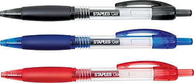 Staples® Retractable Gel Pen, Medium Point 0.7mm, Assorted, 36/Pack