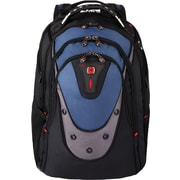 "SwissGear 17"" Backpack with iPod/MP3 Player Compartment, Blue/Black, 19""H x 15""W x 10""D"