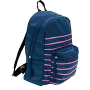Cynthia Rowley, Navy with Pink Stripes, Polyester Back Pack (29921-US)