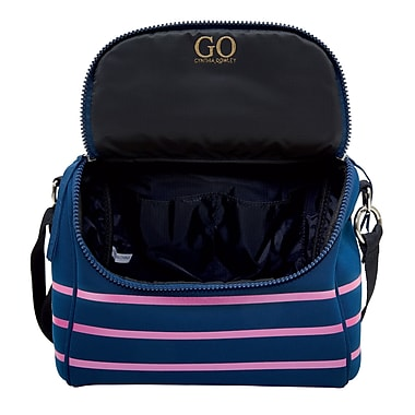 Cynthia Rowley, Navy Blue with Pink Stripes Lunch Bag (29922-US)