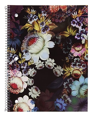 Cynthia Rowley Notebook, College Ruled, Cosmic Black Floral 8