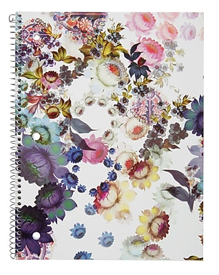 Cynthia Rowley Notebook, College Ruled, Cosmic White Floral 8