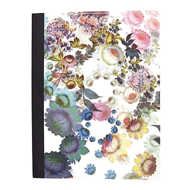 Cynthia Rowley Composition Book, College Ruled, Cosmic White Floral 9-3/4