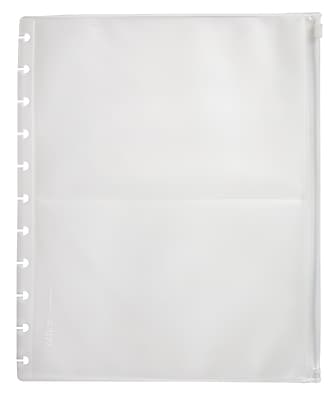 Office by Martha Stewart™ Discbound™ Zip Pocket, Clear, Letter Size (29588)
