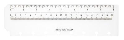 Office by Martha Stewart™ Discbound™ Ruler, Junior Size, White (29579)