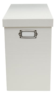 Office by Martha Stewart™ Stack+Fit™ File Box, White (29571)