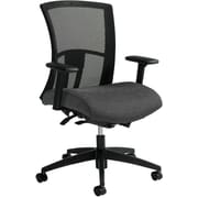 Global Vion Mesh Managers Office Chair, Adjustable Arms, Granite Rock (6322-8-UR20)