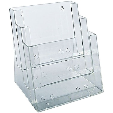 Azar Displays 3-Tier 3-Pocket Letter Sized Brochure Holder (252378)