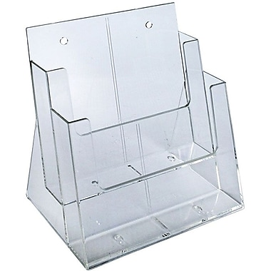 Azar Displays 2-Tier 2-Pocket Letter Sized Brochure Holder (252380)