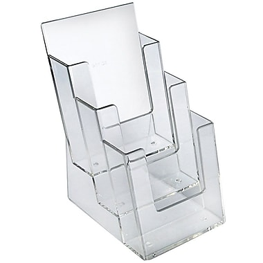 Azar Displays 3-Tier 3-Pocket Tri-Fold Brochure Holder (252387)