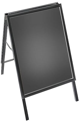"A-Board Sign in Black. Slide-In Frame Size: 22""W x 28""H"