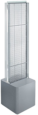 Two-Sided Pegboard Floor Display on Studio Base w/ C-Channels. Panel Size: 13.5