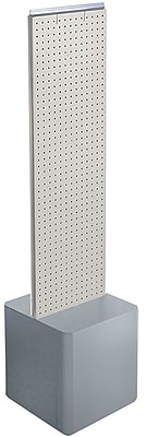 Two-Sided Pegboard Floor Display on Studio Base. Panel Size: 13.5