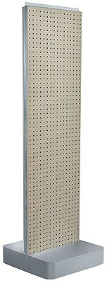 Two-Sided Pegboard Floor Display on Studio Base: Panel Size: 16