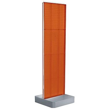 Two-Sided Pegboard Floor Display on Studio Base: Panel Size: 16