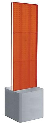 Two-Sided Pegboard Floor Display on Adjustable Studio Base. Panel Size: 16