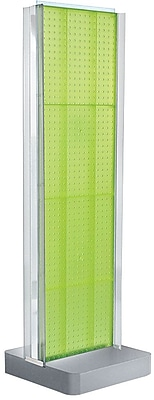 Two-Sided Pegboard Floor Display w/ C-Channel Sides on Studio Base. Panel Size: 16