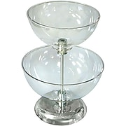 """Two-Tier 10"""" & 12"""" Bowl Counter Display"""