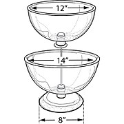 """Two-Tier 12"""" & 14"""" Bowl Counter Display"""