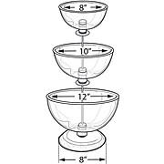 "Three-Tier 8"", 10"", & 12"" Bowl Counter Display"