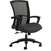 Global Vion Mesh Managers Office Chair, Adjustable Arms, Granite Rock (6321-4CBK-UR20)