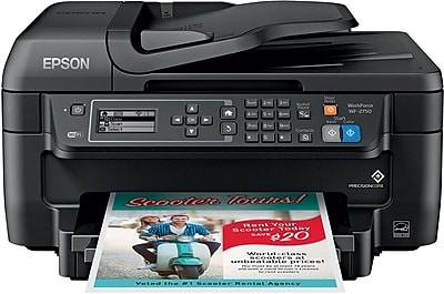 Epson® WorkForce® WF-2750 Wireless Multifunction Color Inkjet Printer (C11CF76201)