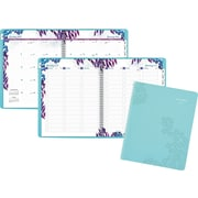 """AT-A-GLANCE® Weekly/Monthly Appointment Book/Planner, 2017, 8 1/2"""" x 11"""", Wild Washes (523-905-17)"""