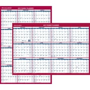 "AT-A-GLANCE® Vertical/Horizontal Erasable Wall Calendar, Reversible, 2017, 36"" x 24"" (PM26 28 17)"