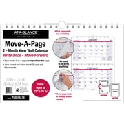 """AT-A-GLANCE® Move A Page Two Month Wall Calendar, 2017, 22"""" x 28 1/2"""" (PMLF9 28 17)"""