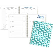 """AT-A-GLANCE®Weekly/Monthly Planner, 2017, 8 1/2"""" x 11"""", Geos (135T-905-17)"""