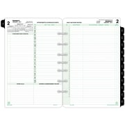 "Day-Timer® Reference Two Page Per Day Refill, Loose-Leaf, Desk Size, 5 1/2"" x 8 1/2"" (92800-1701)"