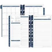 "Franklin Covey® Two Page Per Day Planner Refill, Loose-Leaf, 2017, 5 1/2"" x 8 1/2"", Monticello (36229-17)"