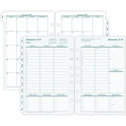 "Franklin Covey® Recycled Original Two Page Per Week Planner Refill, Loose-Leaf, 2017, 5 1/2"" x 8 1/2"" (35423-17)"