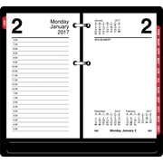 "AT-A-GLANCE® Daily Loose-Leaf Desk Calendar Refill with Monthly Tabs, 2017, 3 1/2"" x 6"" (E717T-50-17)"