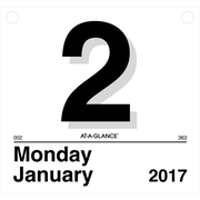 AT-A-GLANCE® Daily Wall Calendar Refill, 2017, 8 1/2 x 8, Today Is (K4 50 17)