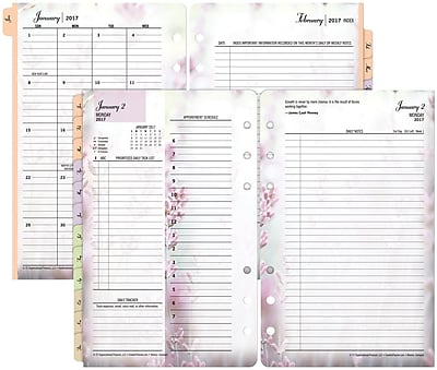 image about Planner Refills named Franklin Covey® 2 Web site For every Working day Planner Refill, Free-Leaf, 2017, 4 1/4\