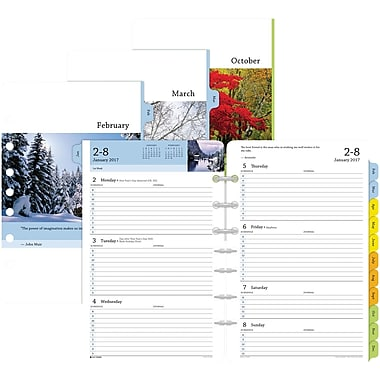 """Day-Timer® Two Page Per Week Serenity Planner Refill, Half-Hourly Appointments, 2017, 5 1/2"""" x 8 1/2"""" (13691-1701)"""