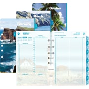 """Day-Timer® Two Page Per Day Loose-leaf Planner Refill Pages, 2017, 5 1/2"""" x 8 1/2"""", Coastlines® (13180-1701)"""