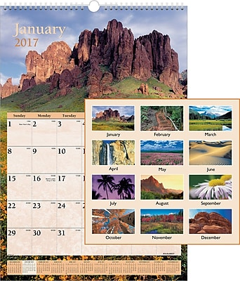 """""AT-A-GLANCE Wall Calendar, 2017, 15 1/2"""""""" x 22 3/4"""""""", Scenic (DMW201 28 17)"""""" 2127740"