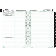 "Day-Timer® 2-Page-Per-Day Original Planner Refill Desk Size, 2017, Quarter-Hourly, 5 1/2"" x 8 1/2"" (92010-1701)"