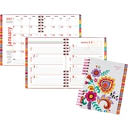 """AT-A-GLANCE® Hardcover Premium Weekly/Monthly Planner, 2017, 6 7/8"""" x 8 3/4"""", Fiesta (120-805-17)"""
