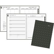"""Staples® Large Weekly/Monthly Hardcover Planner, 14 Months, December Start, 2017, 8"""" x 10 7/8"""", Geographic Design (22872-17)"""