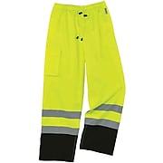 Ergodyne® GloWear 8915BK Rain Pants, Lime, XL