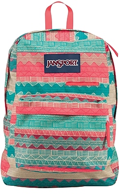 Jansport Digibreak Backpack, Malt Tan Boho Stripe